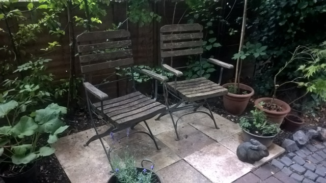 Old Wooden Garden Chairs